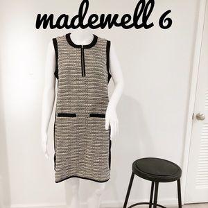 Madewell jumper dress black white 6